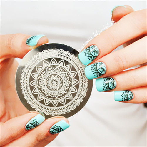 Full Flower Design Nail Art Stamp Stamping Template Image Plate Nail
