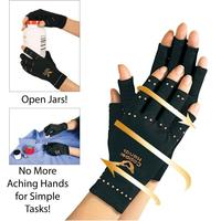 Men Copper Hands Arthritis Gloves As Seen on Tv Therapeutic Compression Black