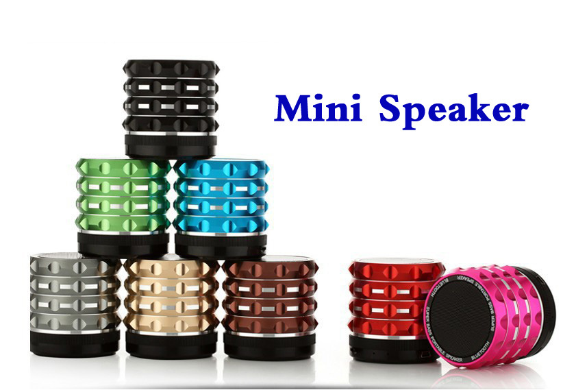 Consumer Electronics Mini Bluetooth Speakers Metal Aluminum Portable Wireless Music Speaker With MP3 Player Support SD