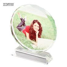 XINTOU جولة شخصية كادر صور الحرف مصغرة الذكرى الزفاف عيد الحب صورة مخصصة التذكارات هدية(China)