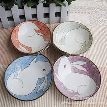 Chang breeze painted ceramic underglaze color cute cartoon rabbit hot new bowl
