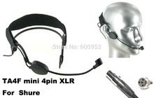 High Qulity Black Headset Head Microphone For Shure PGX SLX ULX UT ... Wireless Mic System(China (Mainland))