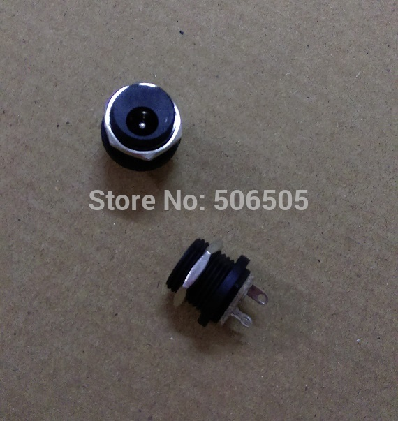 Free shipping Female DC socket Connectors 5.5X2.1MM Outside of the screw 20pcs/lot(China (Mainland))