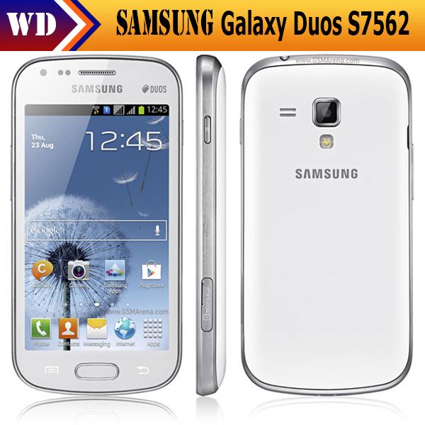 Unlocked Original Samsung S7562 Galaxy S Duos Dual SIM Card Android 4.0 WIFI GPS Cell phone Refurbished(China (Mainland))