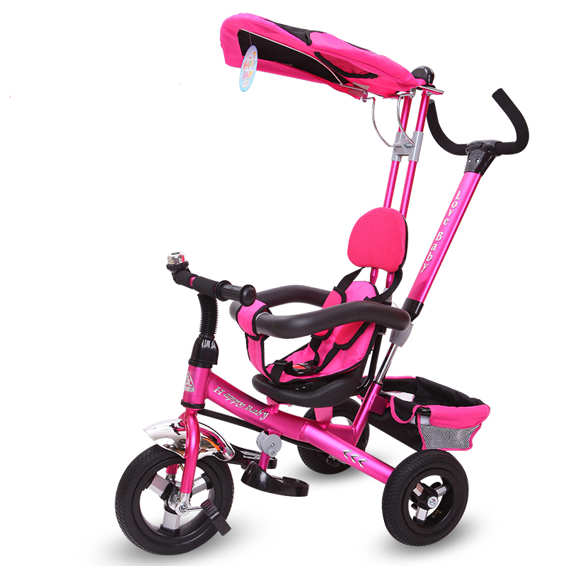 Ride On Toys High quality child tricycle aluminum alloy baby bicycle pedal hadnd(China (Mainland))