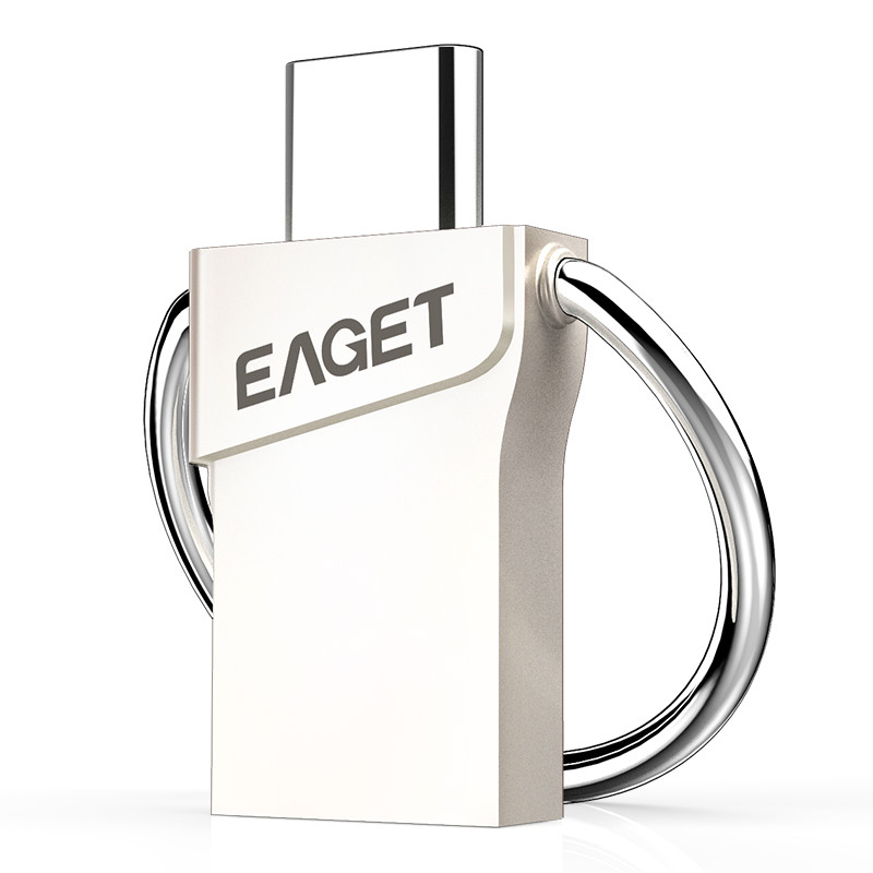 Authentic EAGET CU66 Sort-C USB Flash Drive 32GB Pendrive Mini Transportable Storage For Sensible Cellphone For Pc For Macbook