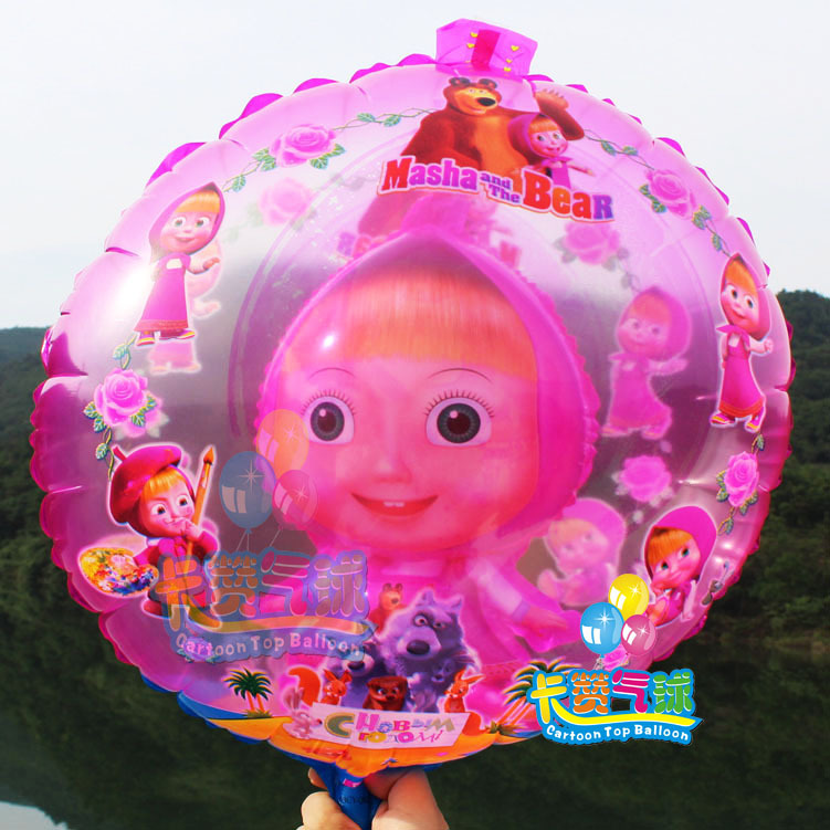 Hot 1pc/lot Masha and bear party Foil Balloons Cartoon balls character birthday Party decorations kids party Supplies air baloes<br><br>Aliexpress