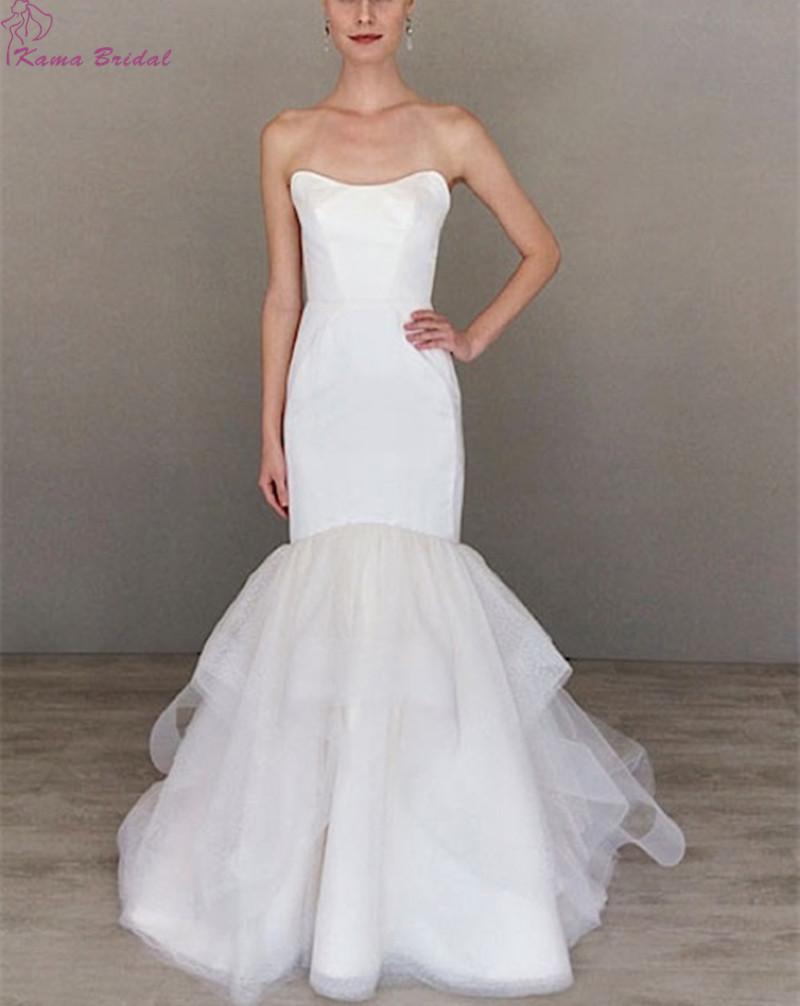 Amazing soft sweetheart mermaid wedding dresses 2016 for White wedding dresses with long trains