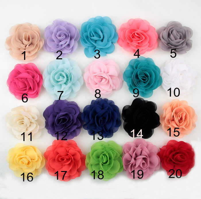 New Design Summer Trendy Rolling Chiffon Rose Flowers with Flatback for DIY Headband Hair Jewelry Clips Pin Garment Brooch(China (Mainland))