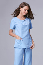 2015 precipitò vestito medico camice da laboratorio donne hospital medical scrub vestiti uniforme fashion design slim fit traspirante intera vendita(China (Mainland))
