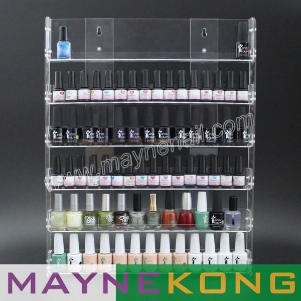 9100% Acrylic hanging wall Nail polish display / nail shelf rack - MAYNE INDUSTRY LTD store