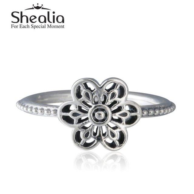 2016 весной новый старинное серебро цветочный дейзи обручальные кольца для женщин 925 серебряный цветок кольца ювелирных украшений RIP151