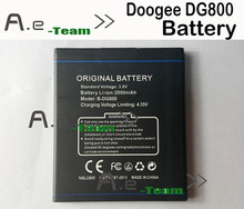 DOOGEE DG800 Battery 100% Original 2000mAh Backup Battery for DOOGEE DG800 Smartphone In Stock Free Shipping(China (Mainland))