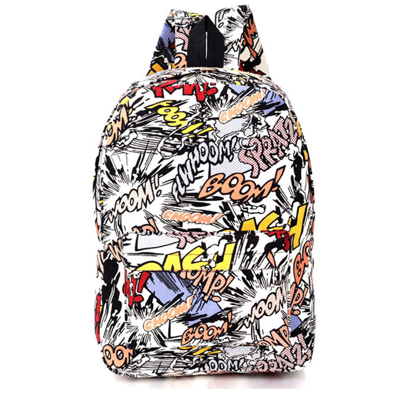 Hippie 2016 Canvas Backpacks Student School Bag Cartoon Print Rucksack Travel Pack Laptop Graffiti Bolsa Mochila Escolar XA1065C(China (Mainland))