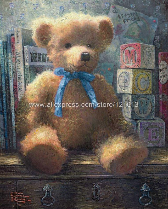 Thomas Kinkade Prints Original Art - A Trusted Friend Blue Bell - Oil Painting Discount Discount Music Wall Decor Wall Decor(China (Mainland))