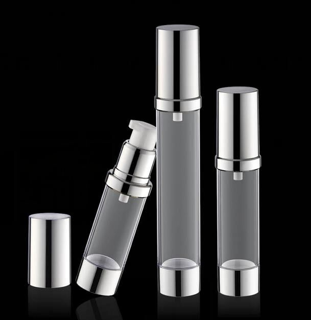 15ml  frosted  airless bottle with  UV silver  pump and bottom silver lid lotion bottle used for Cosmetic Container<br><br>Aliexpress