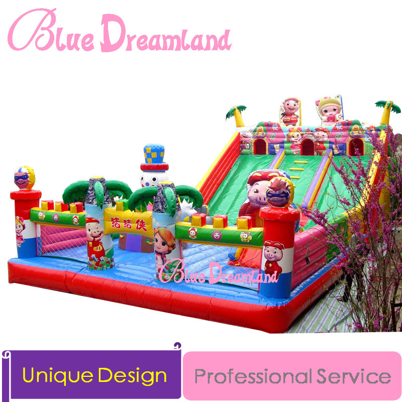 store product Large inflatable pool trampoline castle slide