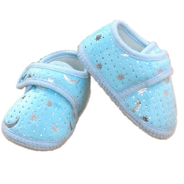 Младенческая малышей удобные девочка мальчик мужской ватки пинетки обувь тапочки ...