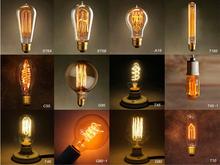 Retro Incandescent Vintage Light Bulbs ST64 T45 DIY Handmade Edison Bulb Fixtures,E27/220V/40W lamp Bulbs For Pendant Lamps(China (Mainland))