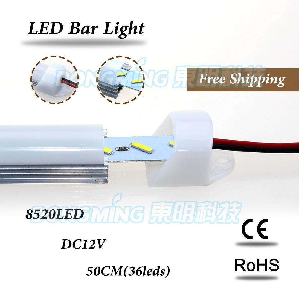 Aluminium U Profile LED rigid Strip 8520 smd 50cm 36leds 12V with pc covcer led bar light kitchen led under cabinet light(China (Mainland))