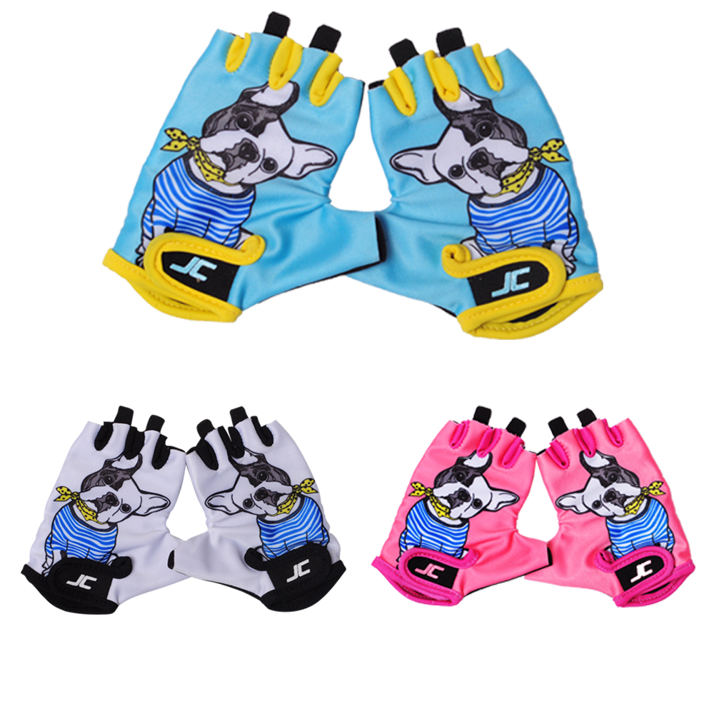 2016 Children Sports Outdoor Half Finger Cycling Gloves cute Breathable MTB bicycle Gloves kids Non-Slip Road Bike Riding Gloves(China (Mainland))