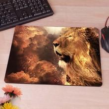 Голова льва в небо компьютер коврик для мыши коврики украсить ваш стол небуксующий резиновая прокладка