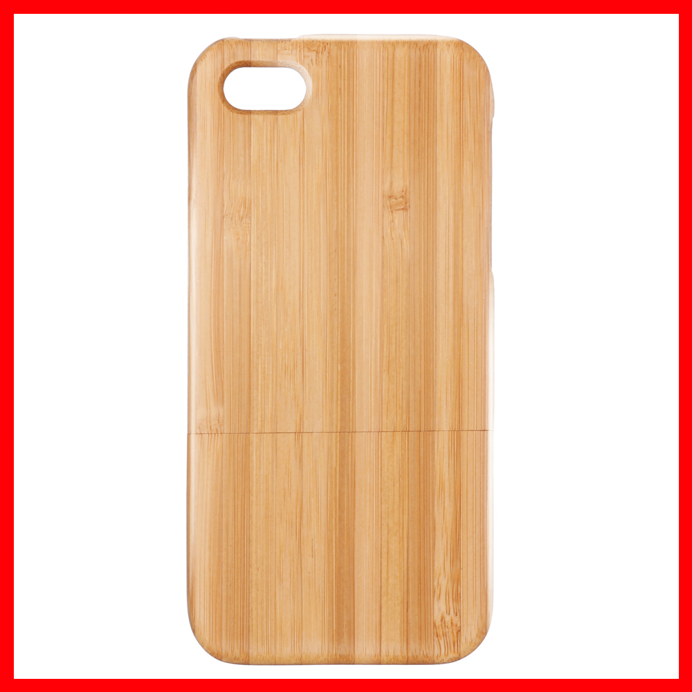 For iPhone 5 5S Bamboo Case Natural Handmade Hard Wood Back Cover For iPhone 5 5S High Quality Phone Case Free Shipping(China (Mainland))