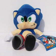 23CM 9inch Sonic Hedgehog Toys Anime Game Figures Sonic Plush Soft Doll 1pcs Free Shipping