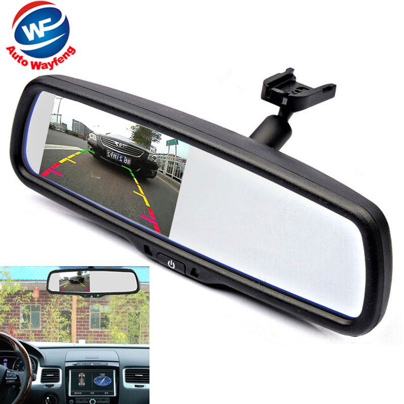 "4.3"" TFT LCD Car Windscreen Rear View Cam Mirror Car Bracket Monitor with 2CH Video Input For Parking Monitor Assistance System(China (Mainland))"