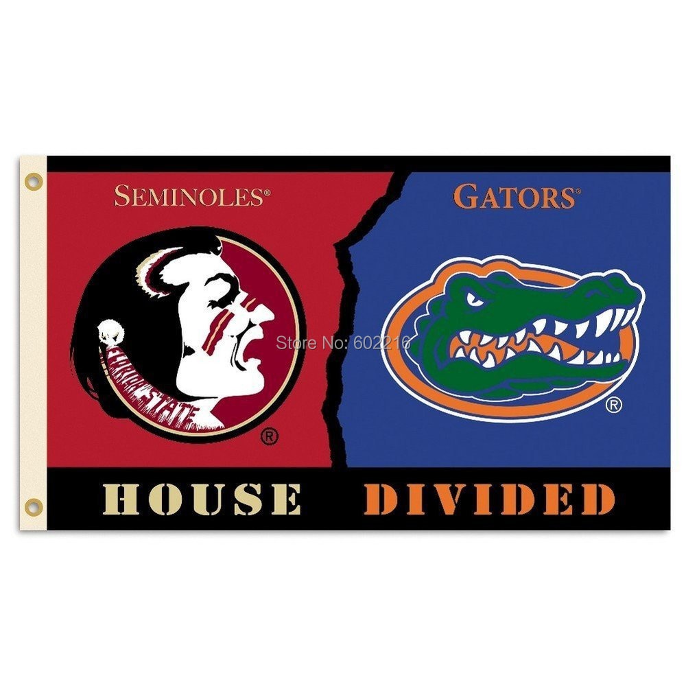 Florida Gators Florida State Seminoles Rivalry House Divided Flag 3ft x 5ft(China (Mainland))