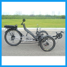 Two wheel in Front Electric Adult Recumbent Trike(China (Mainland))