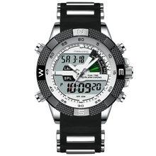 Mode de luxe marque montre pour hommes hommes Sport montre LED montres à Quartz en acier inoxydable armée militaire montre-bracelet Relogio Masculino(China)