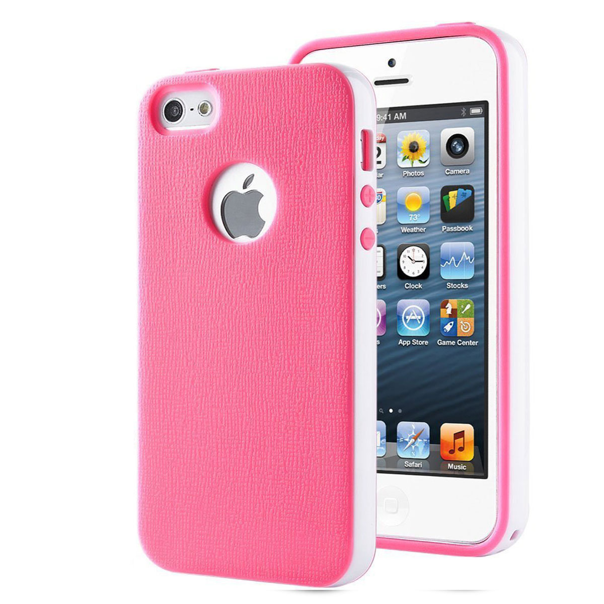 ULAK Soft Frame Case Slim Rubber cases Anti-Scratch Shell Premium Dual Color TPU Cover for iPhone 5 5s(China (Mainland))