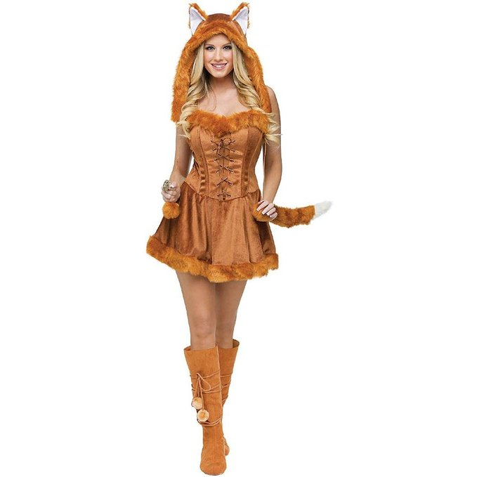 2016 Animal Fur Wholesale Foxy Lady Adult Costume Furry Animal Brown Fancy Dress Up Halloween Party Costume Cosplay(China (Mainland))