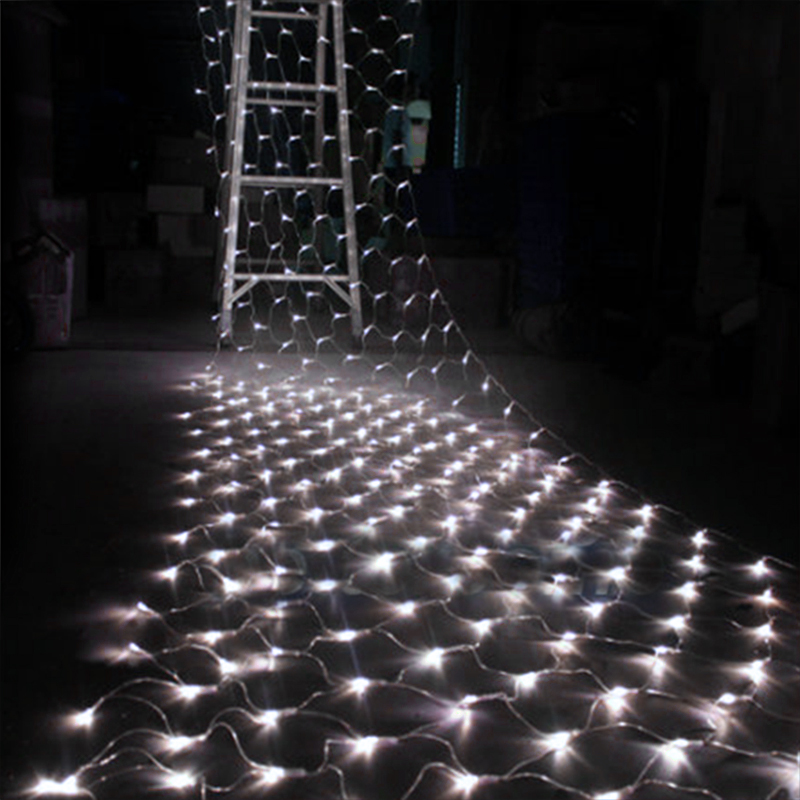 Colorful Christmas Led Lighting 3Mx2M 200 LED Net Mesh Decorative Fairy Light for Holiday/Party/Wedding/Decoration US plug 62<br><br>Aliexpress