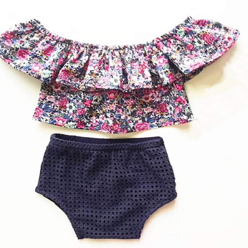Baby Girls Clothes Sets Summer Style Print Set Newborn Cotton Casual Suit Kids Outfits Infant Toddler Tshirt+Shorts Baby Clothes(China (Mainland))
