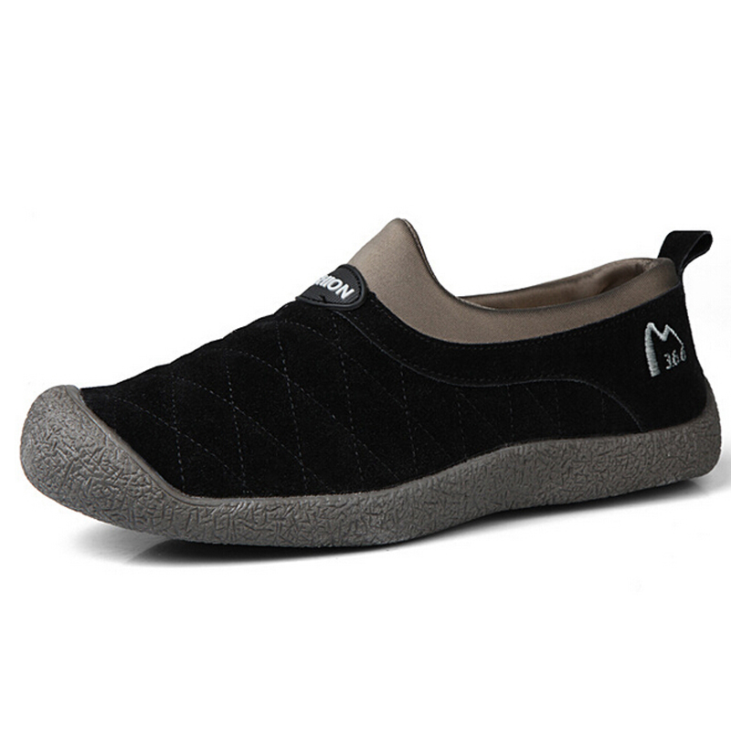 2016 New Winter Women Men Unisex Shoes Fashion Outdoor Casual Flats Loafers Warm Nubuck Leather