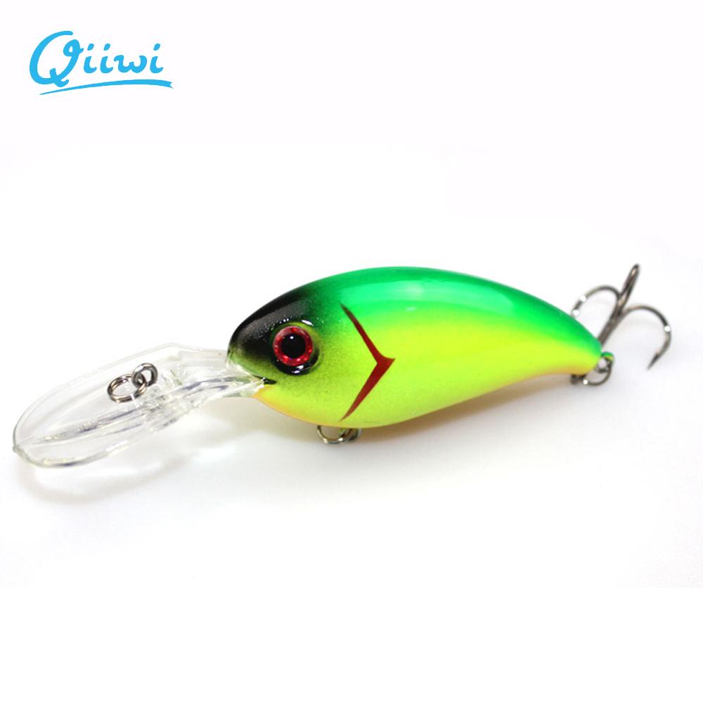 1PCS 3.9 inch 14.8 g Fishing Lure Minnow Hard Bait with 3 Fishing Hooks Fishing Tackle Lure Deep Crank bait Fishing Lures()