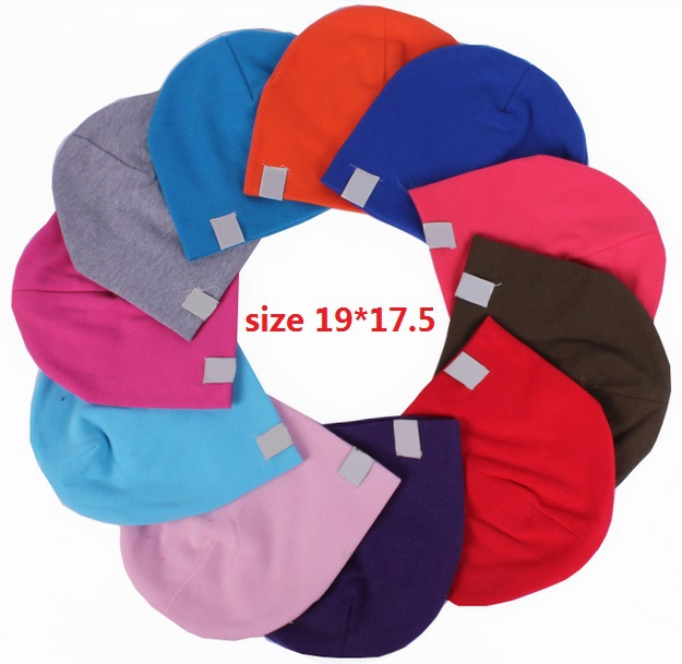 wholesale 10piece/lot 15 colors available baby hat baby cap infant cap cotton infant hats skull caps toddler boys & girls gift(China (Mainland))