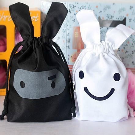 1pcs 2015 new free shipping Ninja Cartoon Bunny cute cloth pouch Storage bags pouch beam port(China (Mainland))