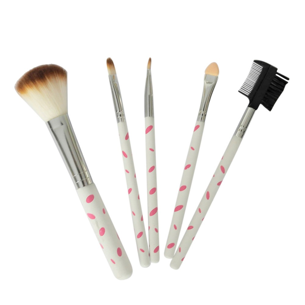 5Pcs Makeup Blush Eyeshadow Leopard Brushes Lipstic Cosmetic Brush Set Tool New 2016 Hot