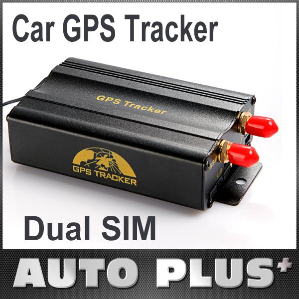 2Pcs/lot Discount 2 SIM Dual Card Port GPRS GSM Vehicle Car GPS Tracker + Remote Control Tracking Central Alarm Google Map 103B+(China (Mainland))