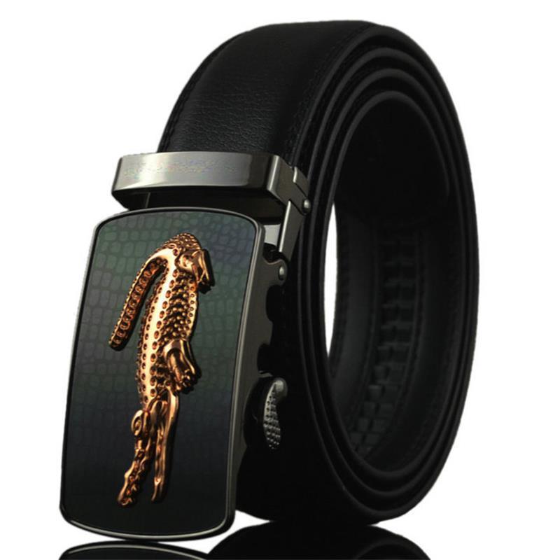 Belt 2016 Hot Fashion Cowhide Leather men Belt Designer Luxury Famous High quality Automatic buckle men