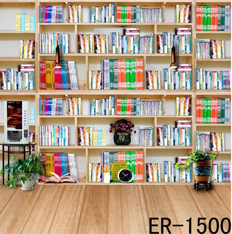 Фотография  New Photo Vinyl Studio Photography Backgrounds 10ftx15ft Backdrops Book-shelf Foldable