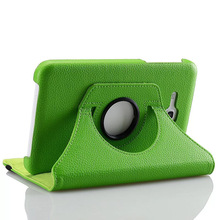 Luxury 360 Rotating PU Leather Stand Case Cover For Samsung Galaxy Tab 3 4 Lite 7.0″ Tablet T110 T113 T116 Cases + Stylus