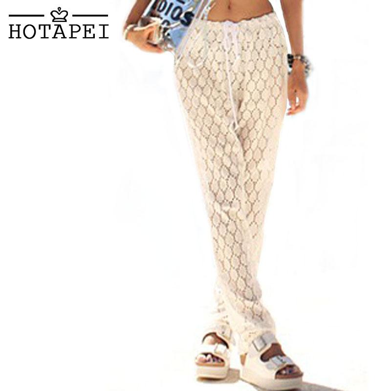 Hotapei White Lace Beach Pants 41170 sexy women summer style 2015 swimsuit cheap china swimwear maillot de bain(China (Mainland))