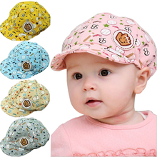 3-24 Months Baby Girls Fashion Beret Hats Child Baseball Caps Kid Peaked Hats Infant lovely Cricket-Cap a217(China (Mainland))