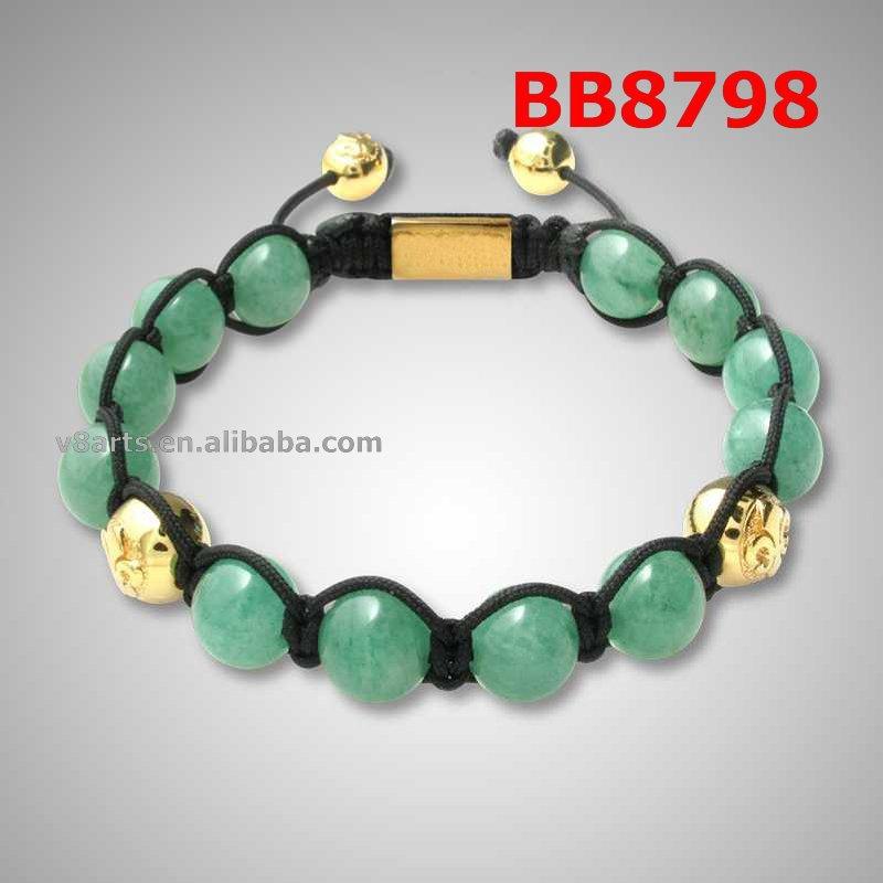 Fashion jewelry laurel-green bracelet shamballa bangles(China (Mainland))