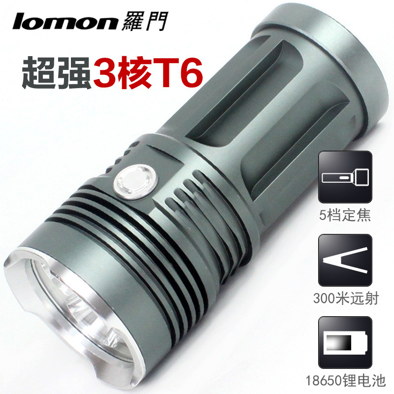 LED nuclear T6 torch flashlight high-grade aluminum alloy filled with small electric torch IPX6 waterproof(China (Mainland))