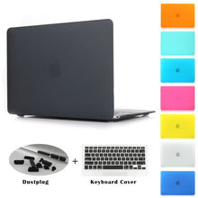Crystal clear matte copertura dura gommata per macbook pro 13.3 15.4  Pro retina 12 13 15 pollice macbook air 11 13 coperture del computer portatile(China (Mainland))